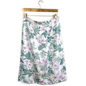 Tommy Bahama • 100% Silk Floral Printed Skirt.